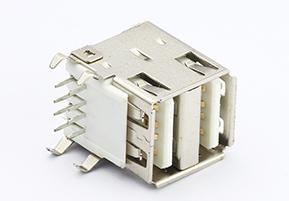 USB A/F   双层90度 DIP  TYPE 连接器